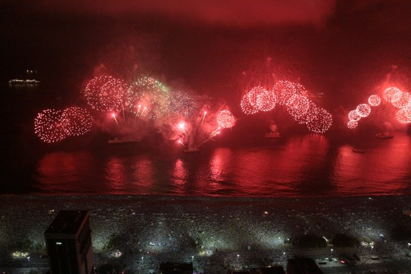 New Year in Rio de Janeiro in Brazil