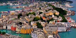 00-Norway Alesund Birdseye of City