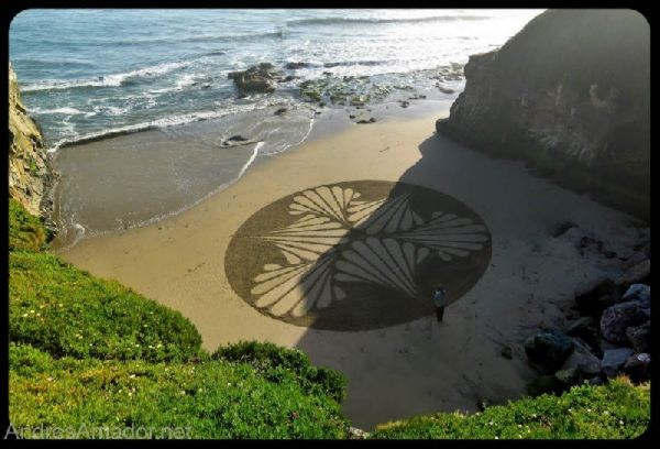 Sand Painting - Beach Art
