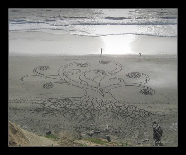 Sand Painting - Beach Art