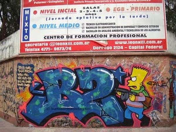 The Simpsons Graffiti