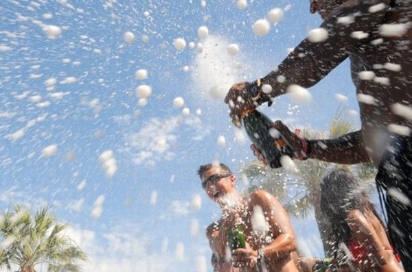 Champagne Spray in Marbella